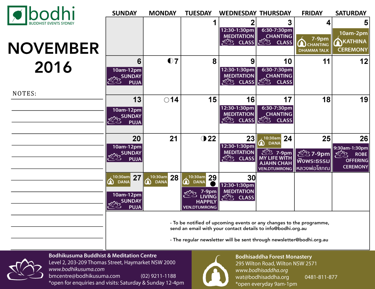 2016-november-bodhi-events