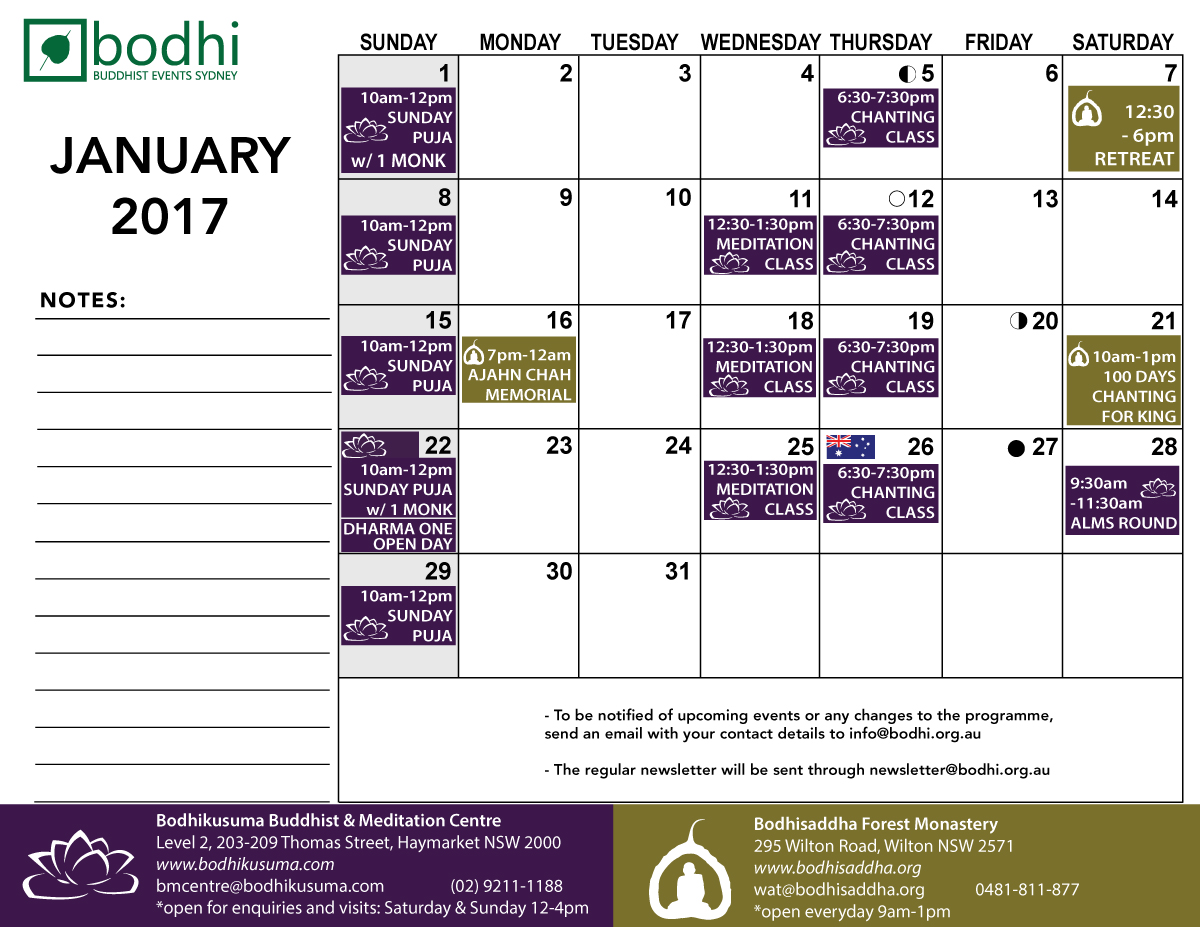 2017-01-january-bodhi-events