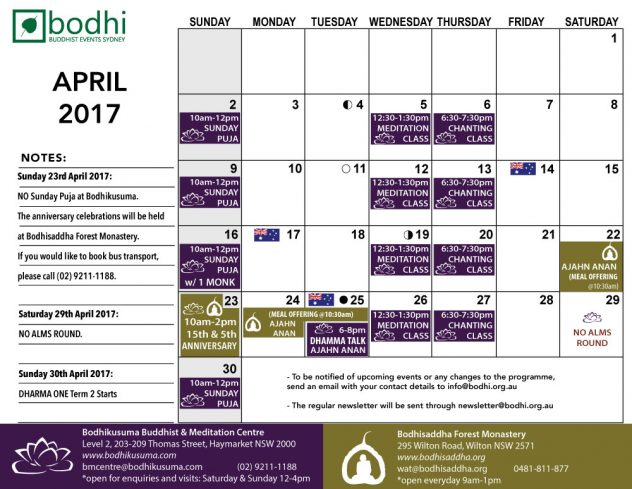 2017-04-April-Bodhi-Events-III
