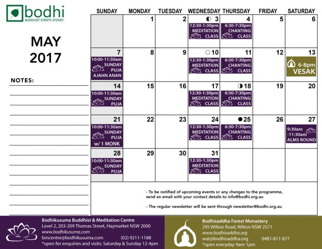 2017-05-May-Bodhi-Events-II